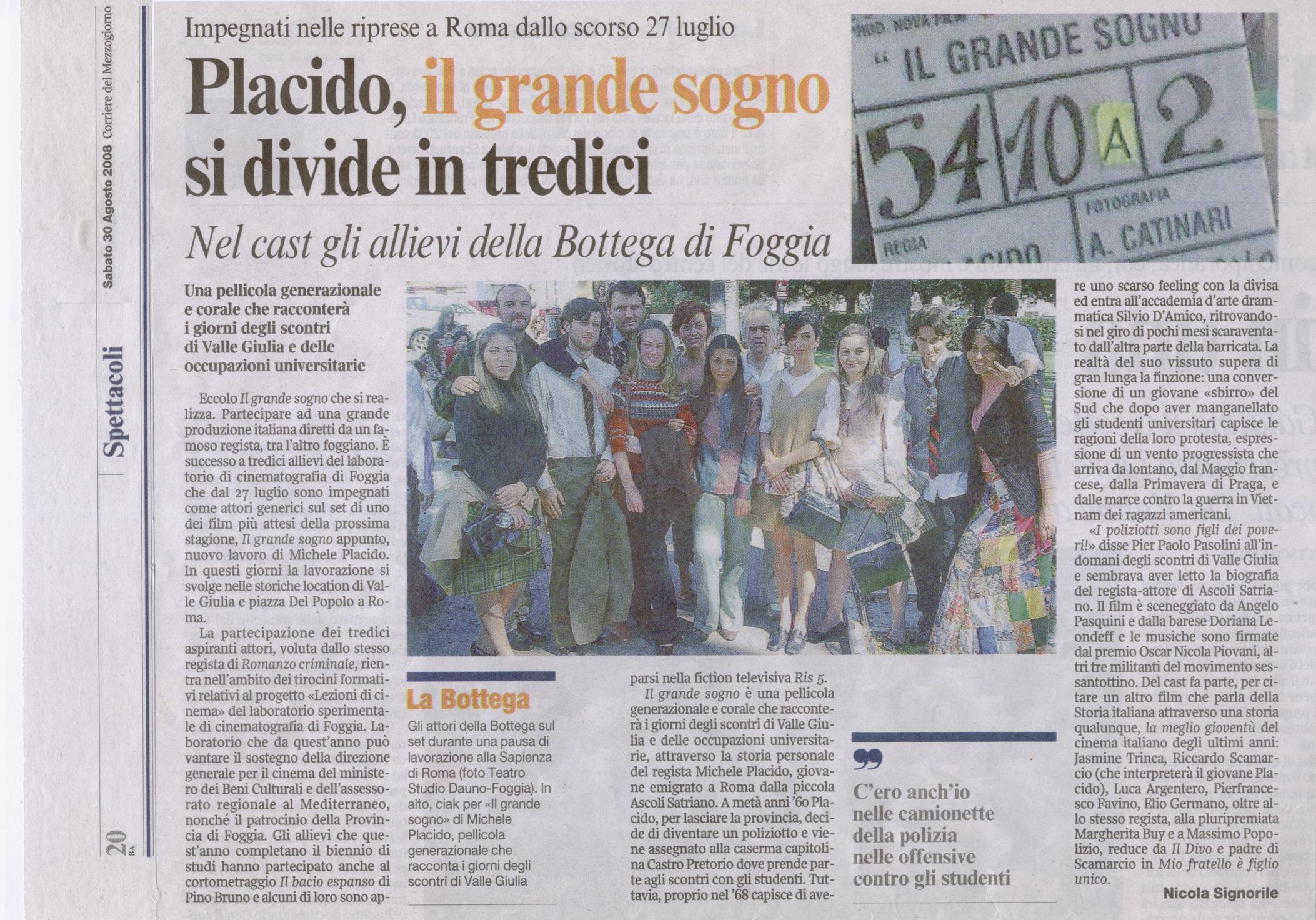 CorrieredellaSera Grande sogno 30ag08