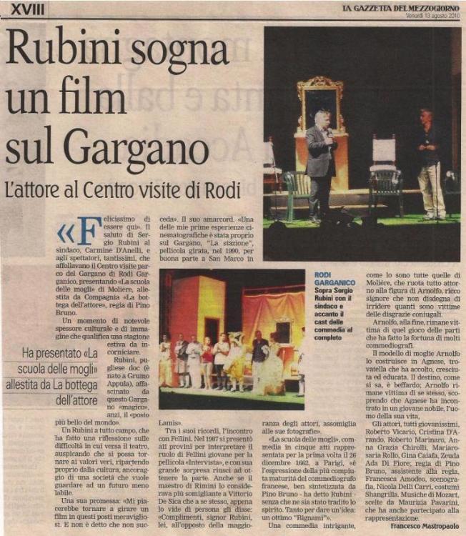 Rass.stampa Scuola Mogli Rubini 13 08 2010 gazzetta