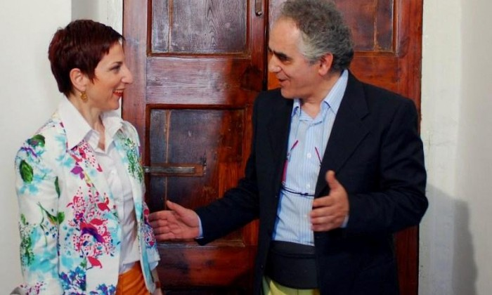 Direttrice Museo San Severo e Pino Bruno sul set